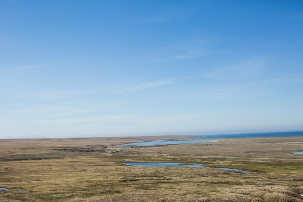 View from the gravel road heading up Sivuqaq Mountain.