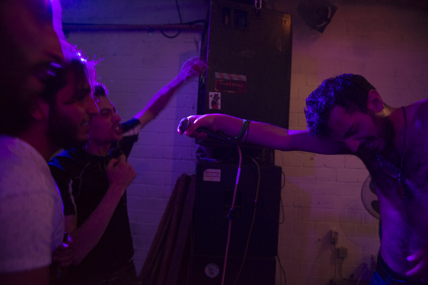 BERLIN| GERMANY | 2016-06-05| Mohammad (28) performs on stage at a local club in Berlin. Mohammad, a well know Syrian rapper, fled Syria after he spent some time in notorious jails of Assad's government for his activism and lyrics criticizing Assad's government.