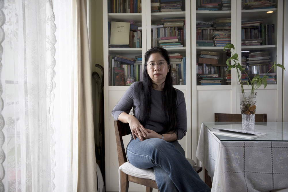 Ida Aroonwong Ida Aroonwong at home is a bail bonds person. She is the trustee of a fund set up after the 2014 coup to help bail out political prisoners.  Bangkok, Thailand