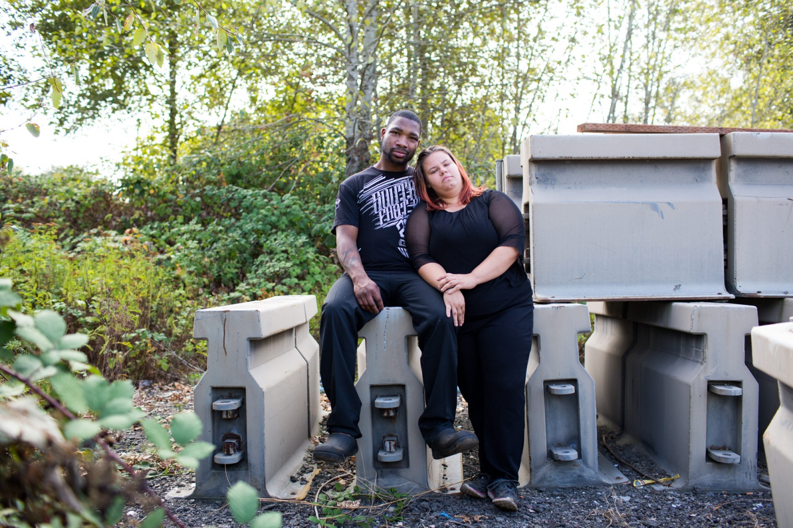 Christopher and Jackie, Camp Second Chance, Seattle, WA from the series 'Love without Shelter'