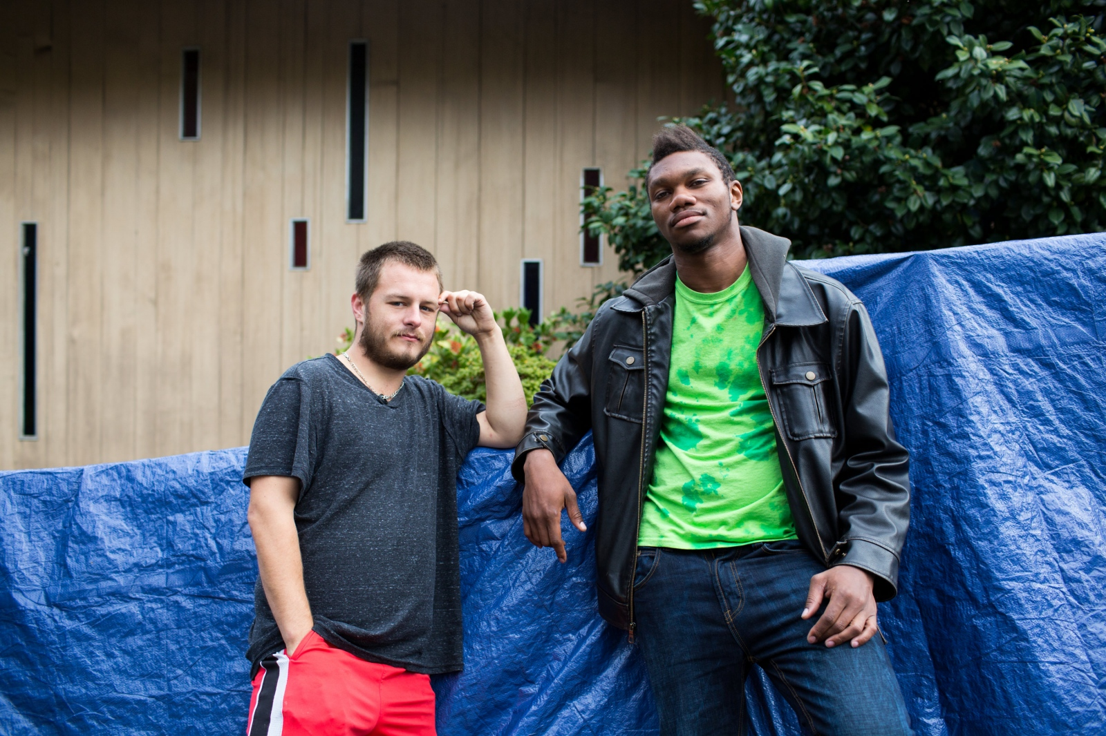 Cody and Isaiah, Tent City 3, Seattle, WA from the series 'Love without Shelter'