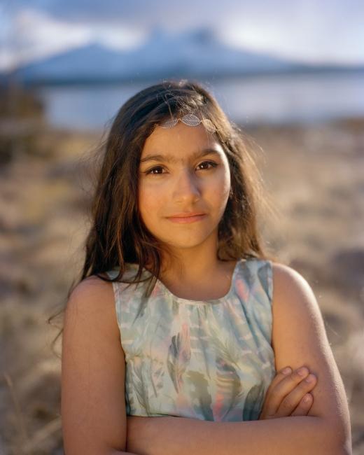 Photography image - Miriam, from Aleppo, Syria, near her new home in Ballangen, Northern Norway. A promising 4x5 film scan from a personal project I'm working on about refugees living above the Arctic Circle in Northern Norway. More soon!