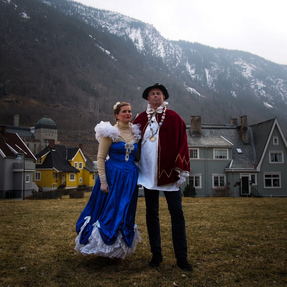 Rjukan, Norway, 2015. In April, Rjukan celebrate the Solfest, the return of sun from behind the mountain, with a costume parade. During the parade, the Lord of Sun is elected by the community, he remains in office for one year and keeps the title for life.