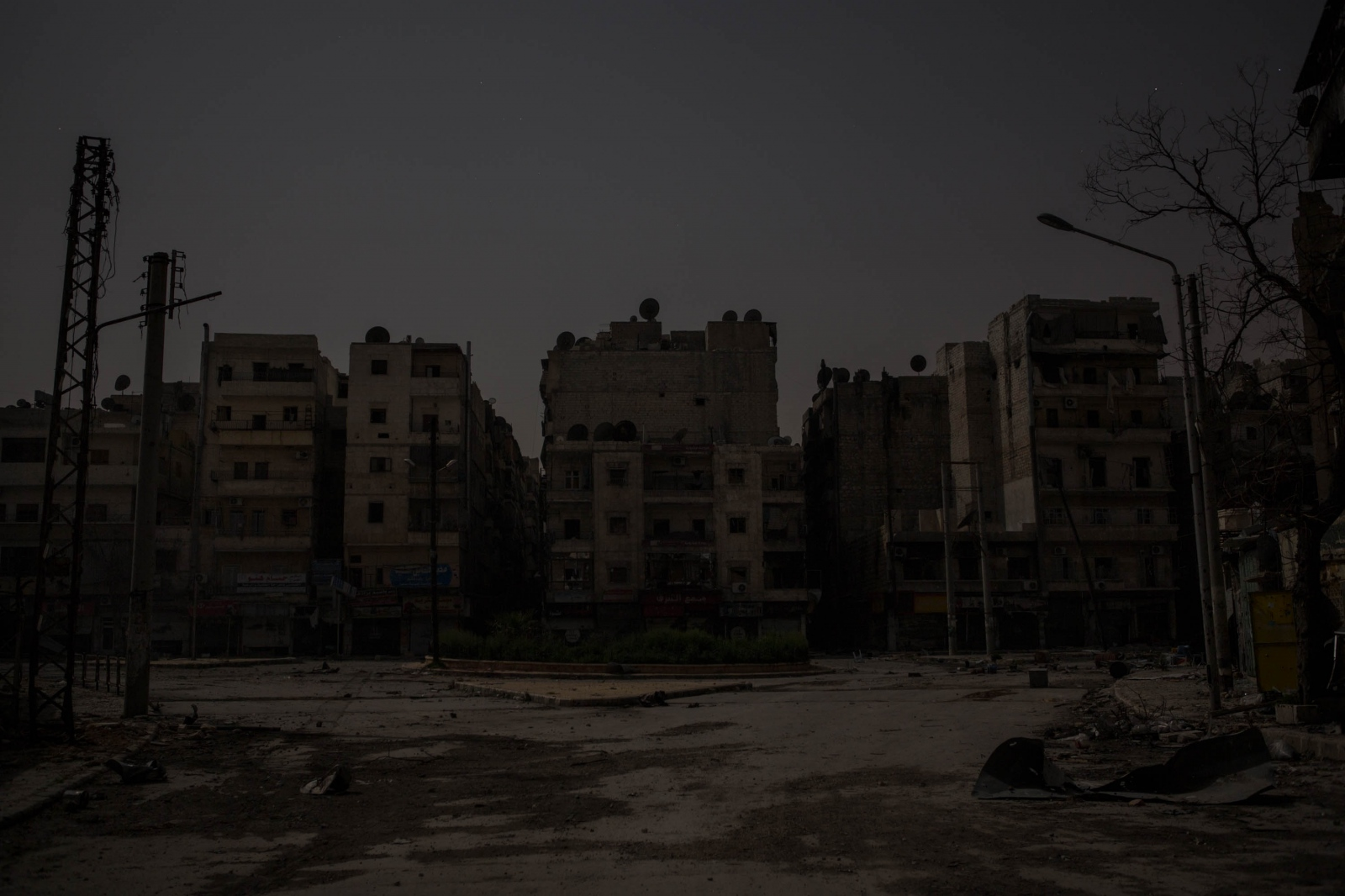 A view of a destroyed section of the Salaheddin neighborhood of Aleppo, Syria. 2013.