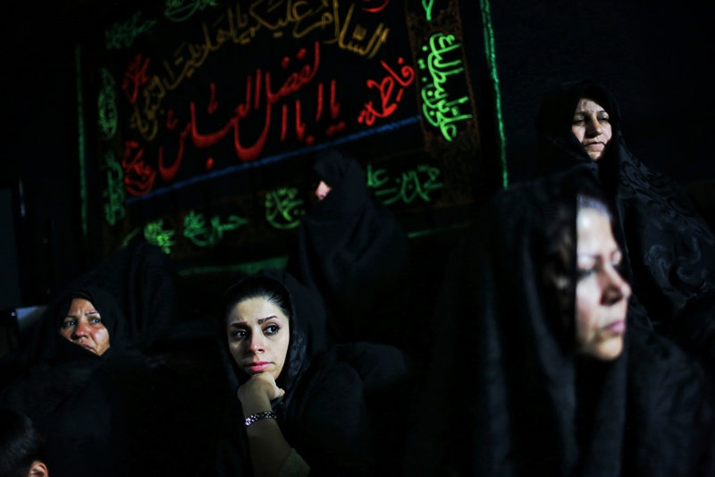 The woman-only mourning ceremonies were formed In Iran since the mourning ceremony for Imam Hossein (AS) started in Iran. During such ceremonies people make religious speeches, sing sad religious songs and perform Ta'ziyeh (religious theatre). Women are listening to the speech on the evens of Ashoura Day. (shahrood)