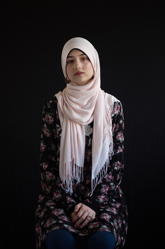 Fatimah Krgo, 19, student in digital storytelling at Mizzou, Muslim, born and raised in Columbia, MO, family originally from Bosnia.