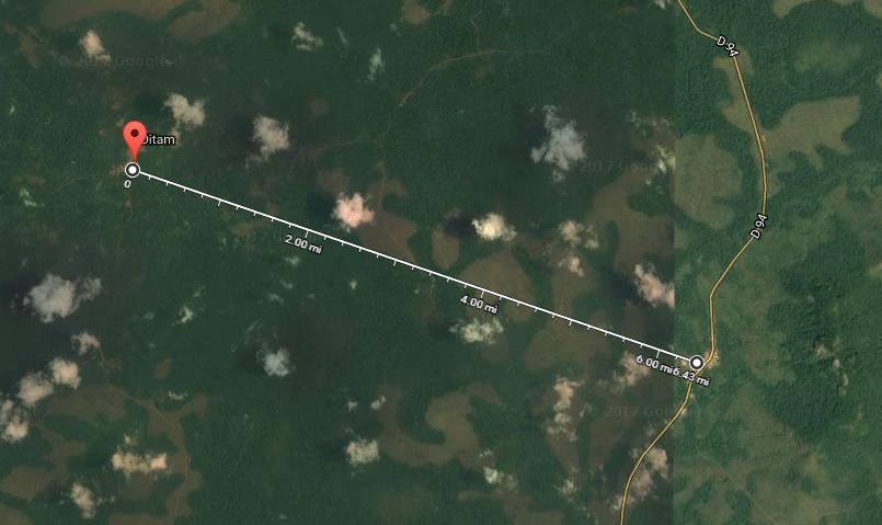 A satellite view of the Radio Tab broadcast site.