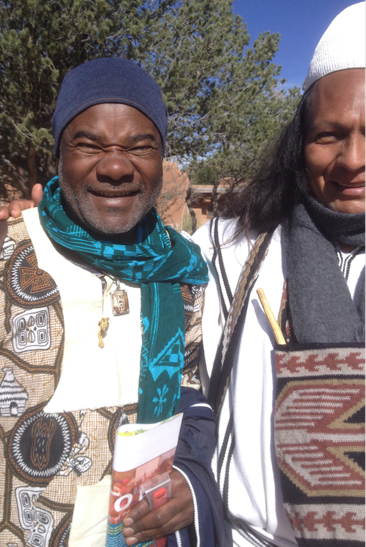 Issa left and Momalito a tribal leader from Peru.