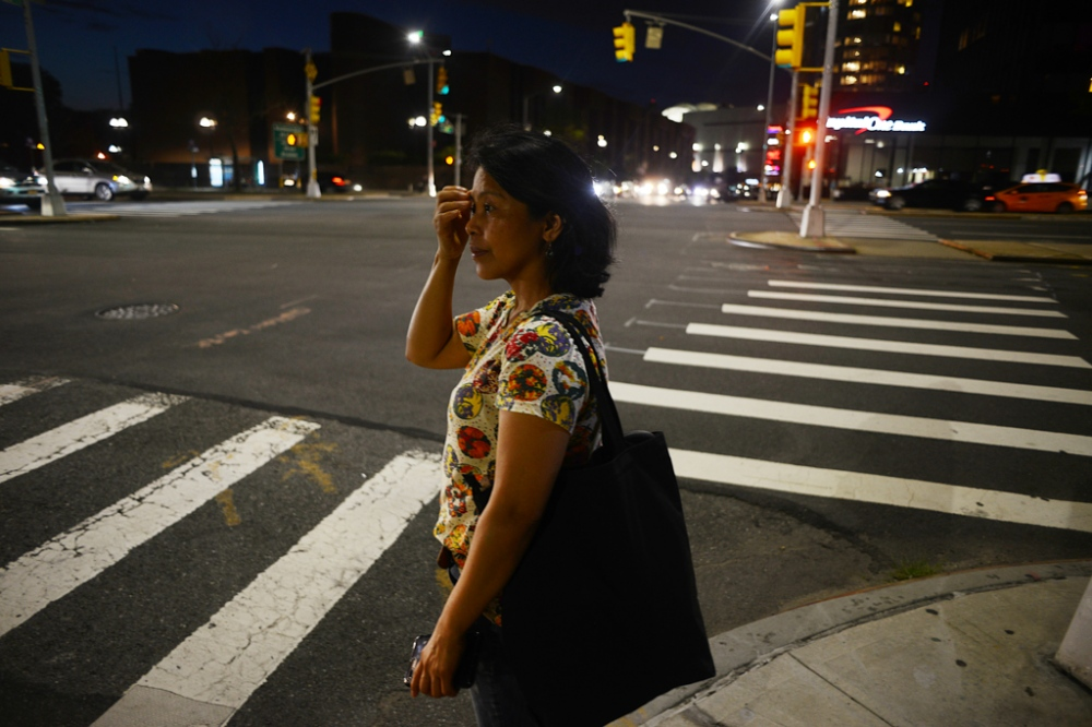 Edith Mendoza, 51, heads home after work in Queens, NY. Filipina live-in nanny Edith Mendoza left her Qatar-based job in 2015 to work in the United States for the family of Pit Koehler, Counsellor of the United Nations' German Permanent Mission to the United States. She says she was promised $10 an hour, 35 hours a week and overtime pay but ended up working 100-hour weeks at their suburban New York home, making what amounted to about $4 an hour. Mendoza became so ill that at one point she had to wear an adult diaper for heavy bleeding.