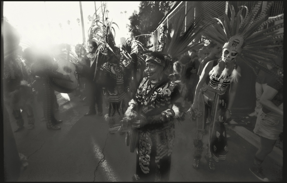 Indigenous dancers, Hollywood Forever Cemetary, Los Angeles, CA, October 2017.