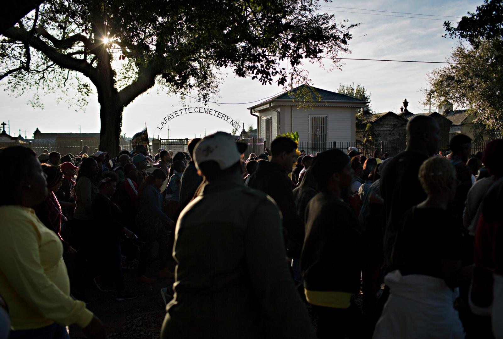 One of the orignal purposes of the Second Line parades was to play somber funeral dirges on the way to the cemetery. Once the funeral had ended, the band would play more festive songs celebrating the life of the deceased person.