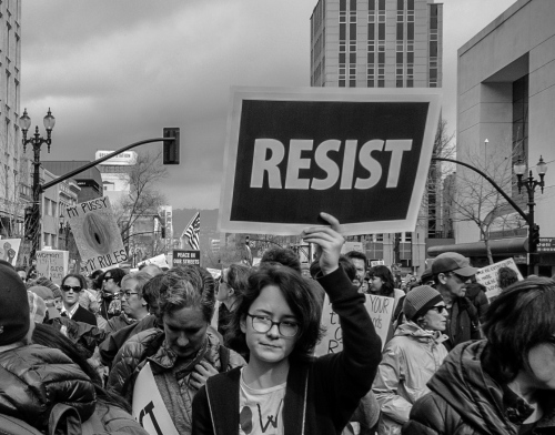 Oakland Women's March 17' - Photography project by David Tau