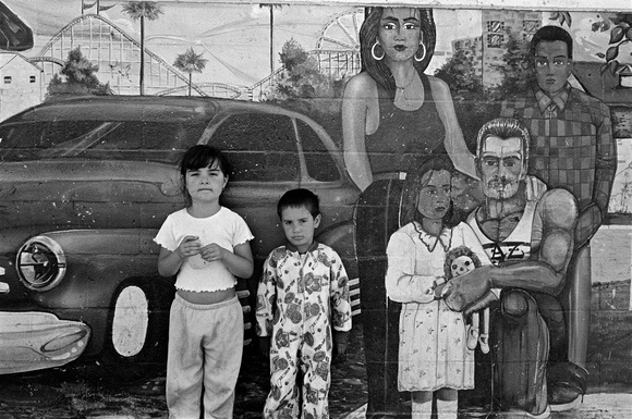 Children in the Beach Flats in Santa Cruz. Santa Cruz, CA. 08.98