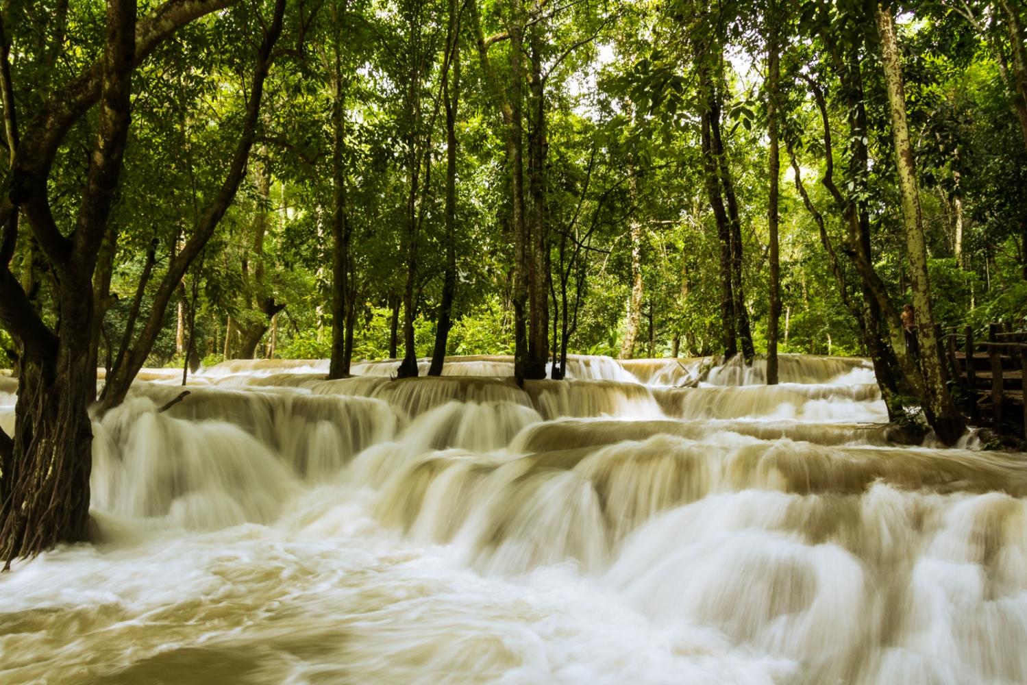 Jungle Waterfall, Laos.