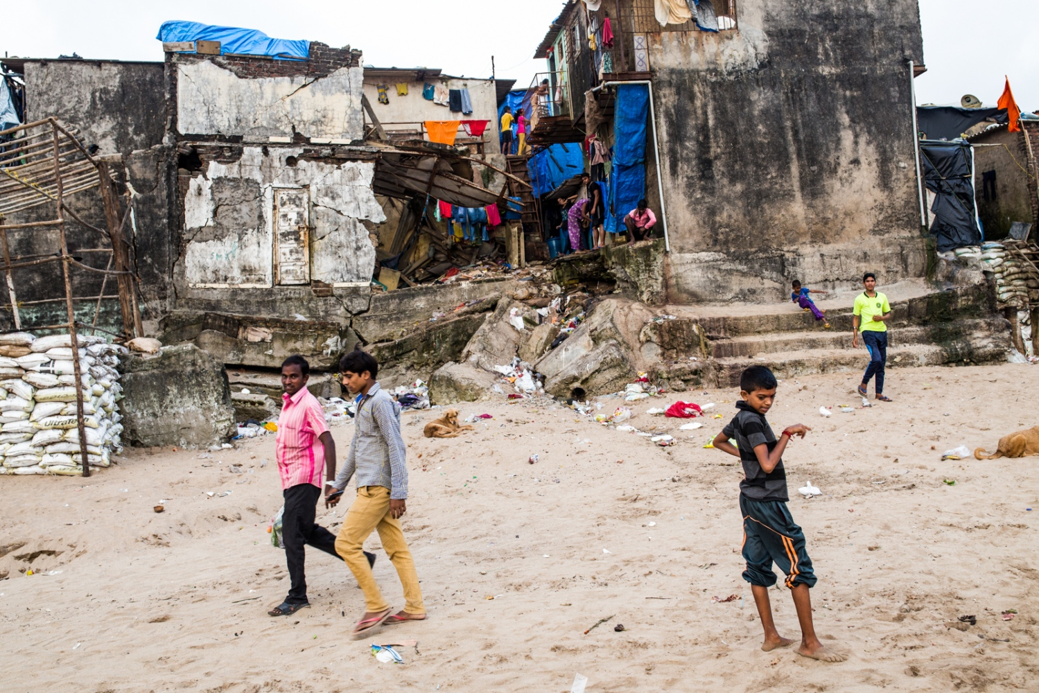 A beachside slum in Mumbai, India. Locals told me that each year they are at war with the sea as it is a constant threat to their homes. Pictured, is a testament to that, where a home has all but crumbled. As climate change intensifies and warmer global temperatures lead to greater sea-level rise from melting ice caps in the Arctic and Antarctic, vulnerable communities are going to be more susceptible to climate-related impacts. Generally speaking, poorer communities across the globe are more likely to be located in risk-prone areas. Rising seas in concert with stronger storm systems will no doubt in the future, and already are, impacting these populations that do not have the resources to adapt, rebuild constantly, or move.
