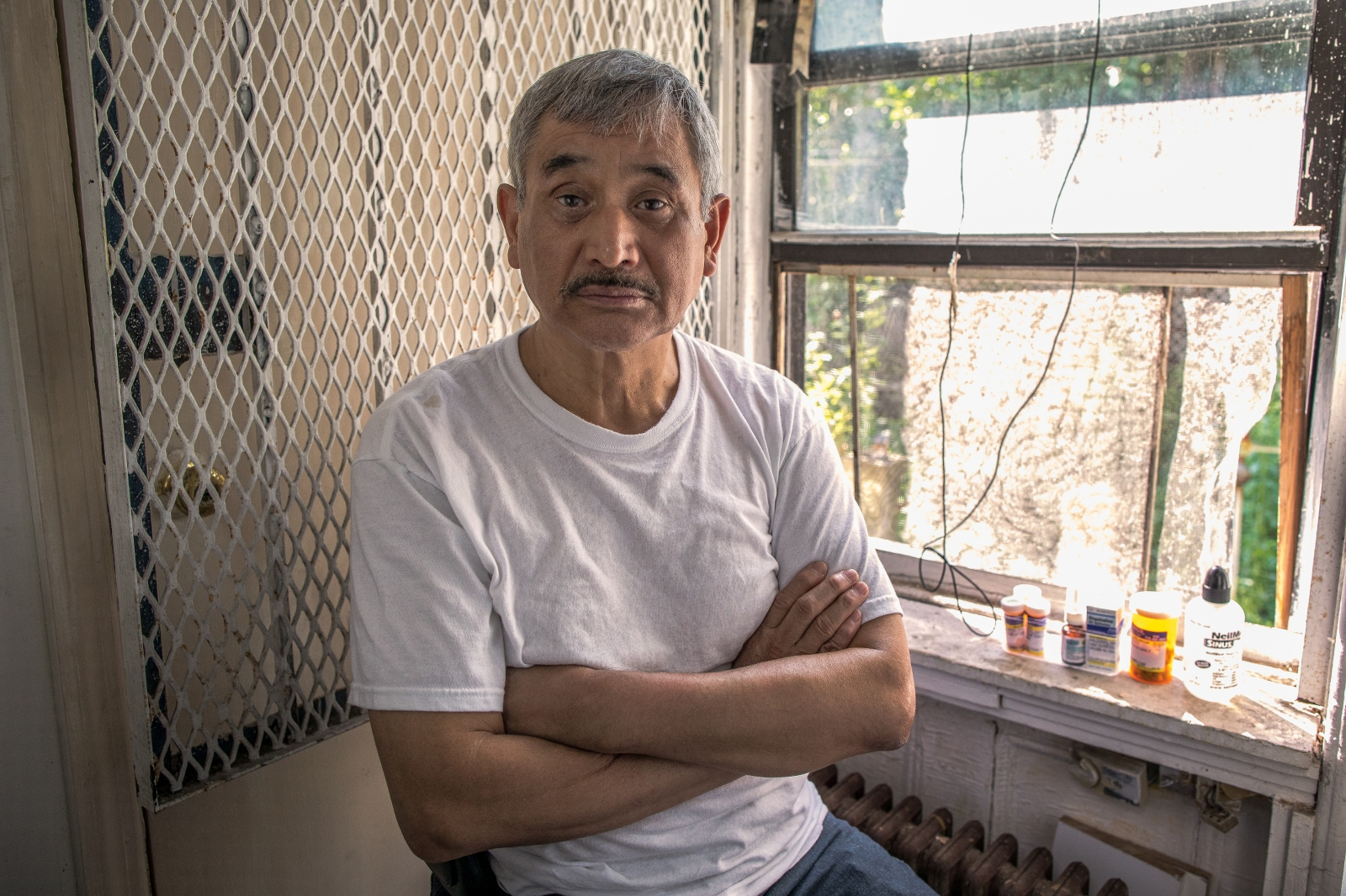 "Hipólito Salgado, 66, Mexican. He worked for four months without proper equipment to protect against asbestos and other toxins. ""If I get my compensation someday I would like to set up a small business that allows me to live with dignity."""