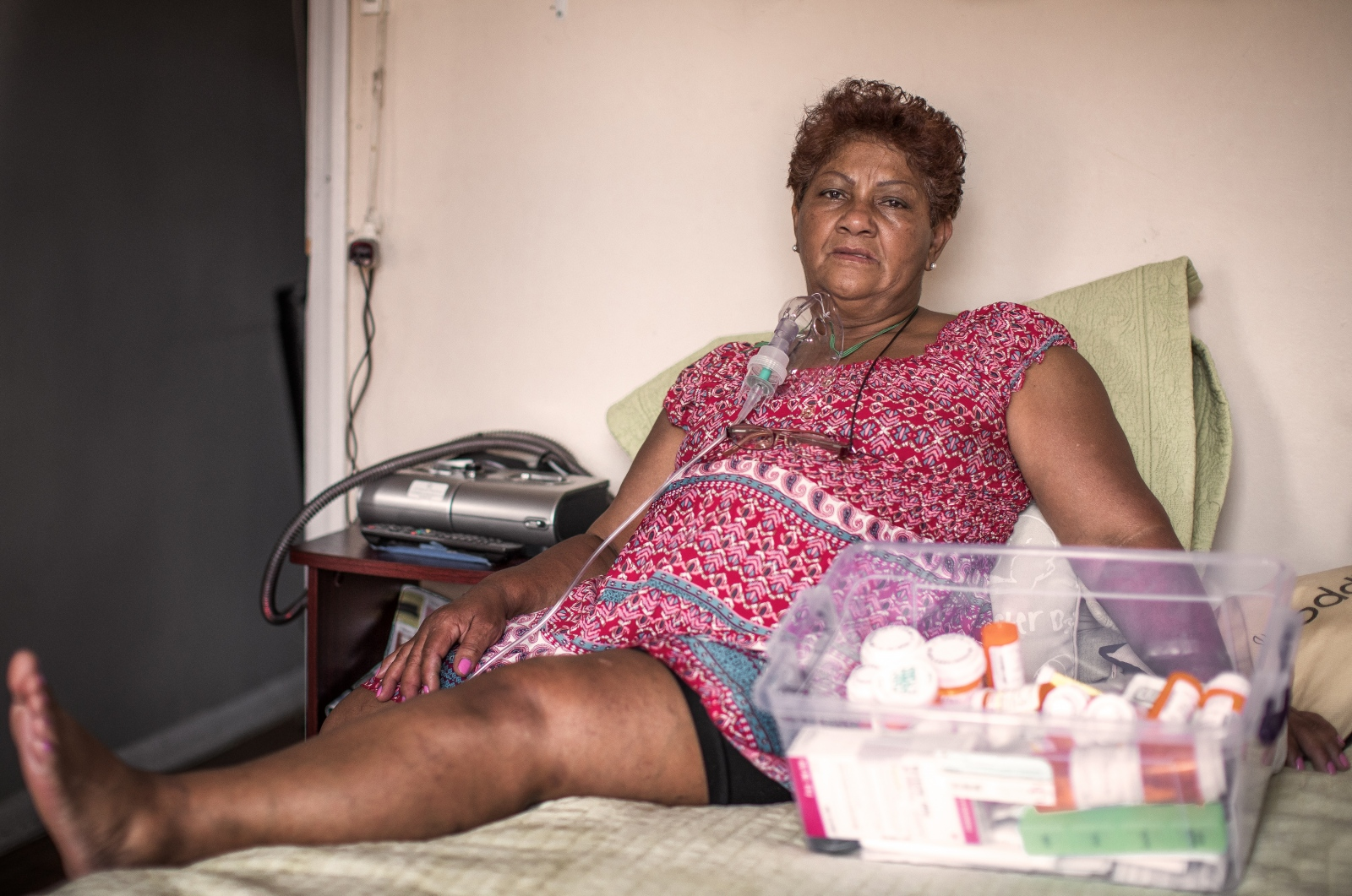 "Nora Treviño, 62, Colombian. She cleaned in the area around the WTC site from Sept. 17, 2001 until March 2002. In 2005, she was diagnosed with asthma, reflux and other diseases. She takes 20 pills a day and is completely disabled. ""My life totally changed ... I forget everything, I get dizzy and I fall."""