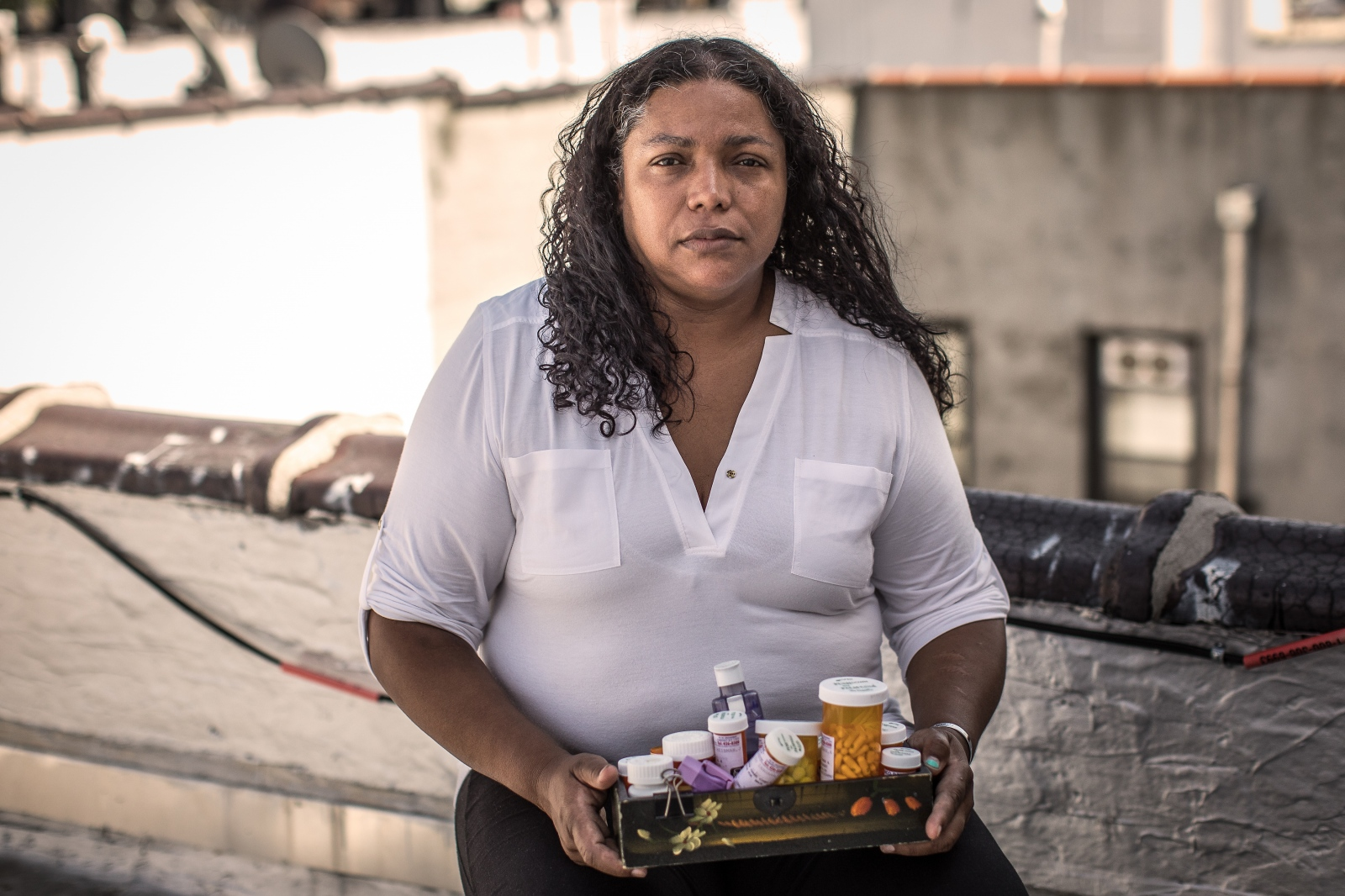 Rubiela Arias, 51, Colombian, worked for eight months cleaning near Ground Zero. She suffers from sinusitis, asthma, anxiety, and dizziness. She has long advocated for the rights of those affected by 9/11.