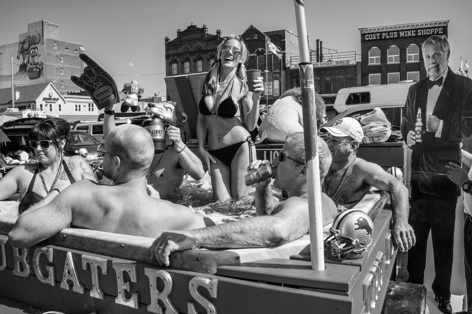 Lions Tailgate Party, Eastern Market, Detroit, MI