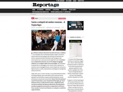 Il Reportage .14 Nov. 2017. Italy.