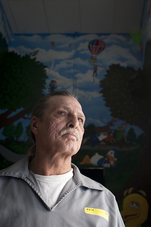 Jeff Mizanskey, photographed at Jefferson City Correctional Facility, is Missouri's only prisoner serving life without parole for marijuana charges. Photographed for the Riverfront Times.