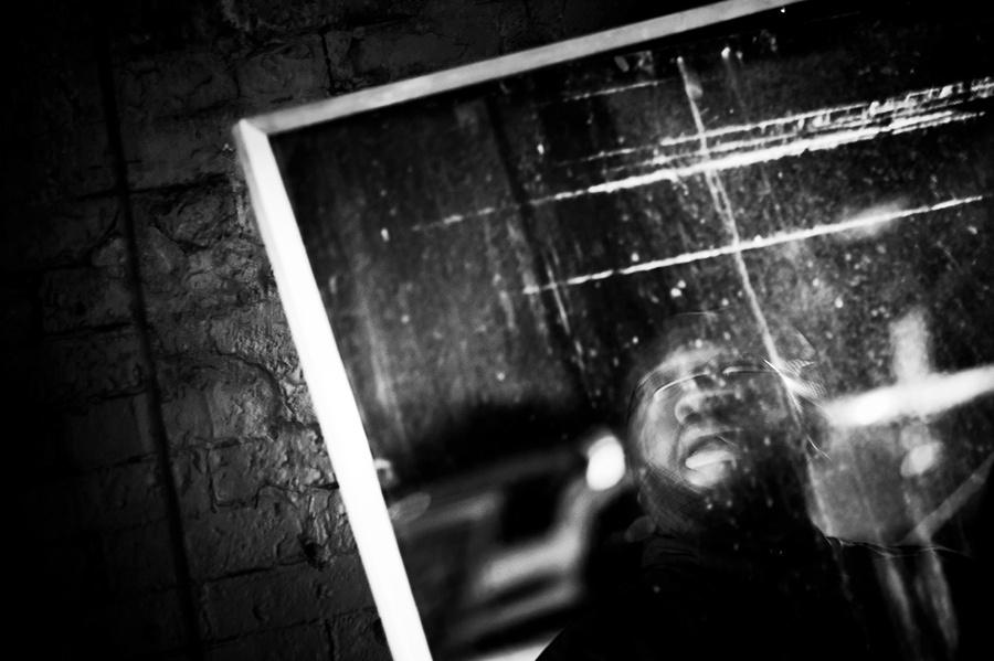 Portrait of alto saxophonist-composer Darius Jones.