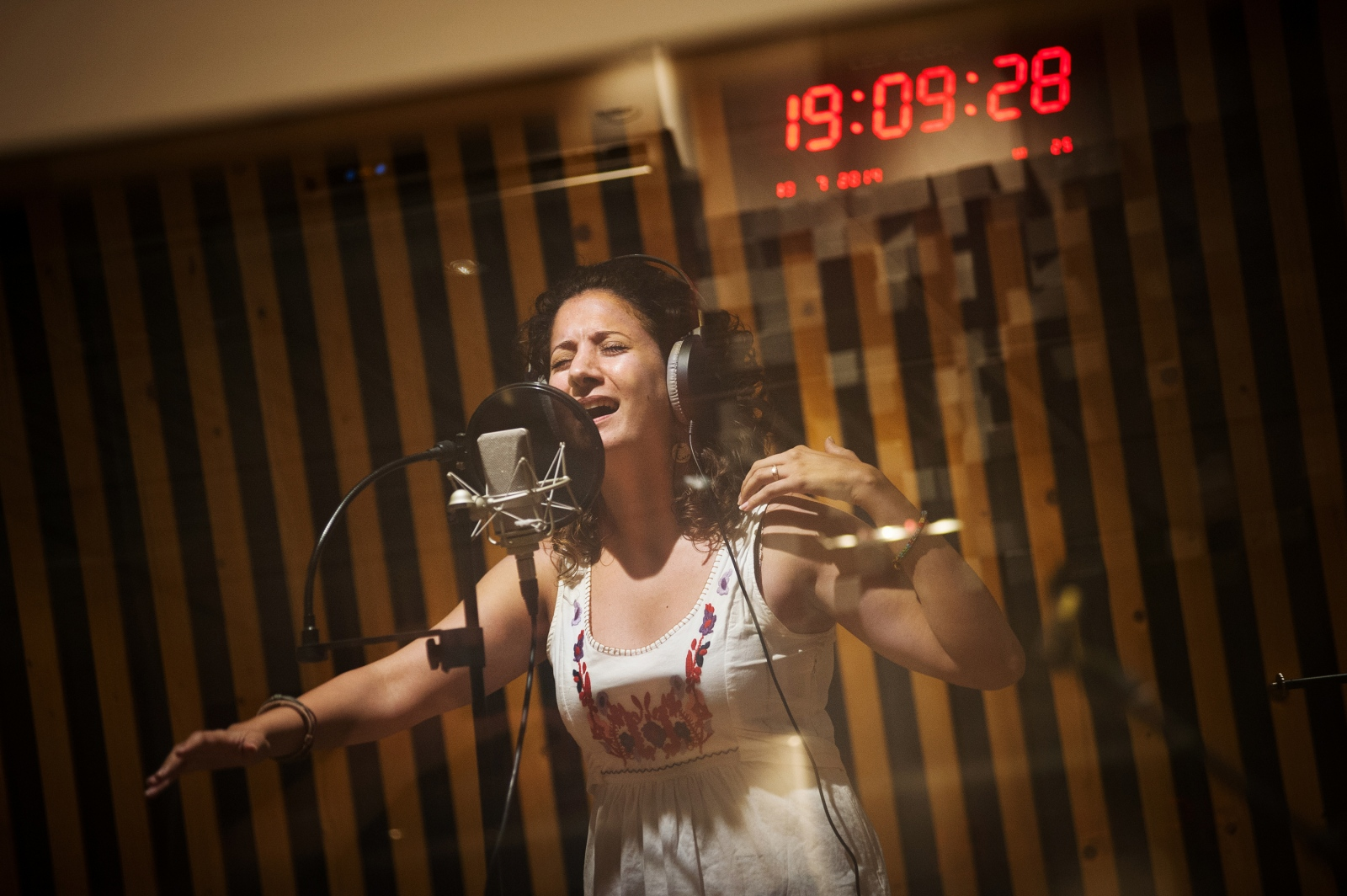 "Terez spent the summer of 2014 recording her first solo album. Upon seeing this image in the photo elicitation, Terez described her frustrations of not being accepted by Israelis yet having Palestinians in the West Bank view Palestinian Israelis as detached from them. ""We're not here and we're not there."""