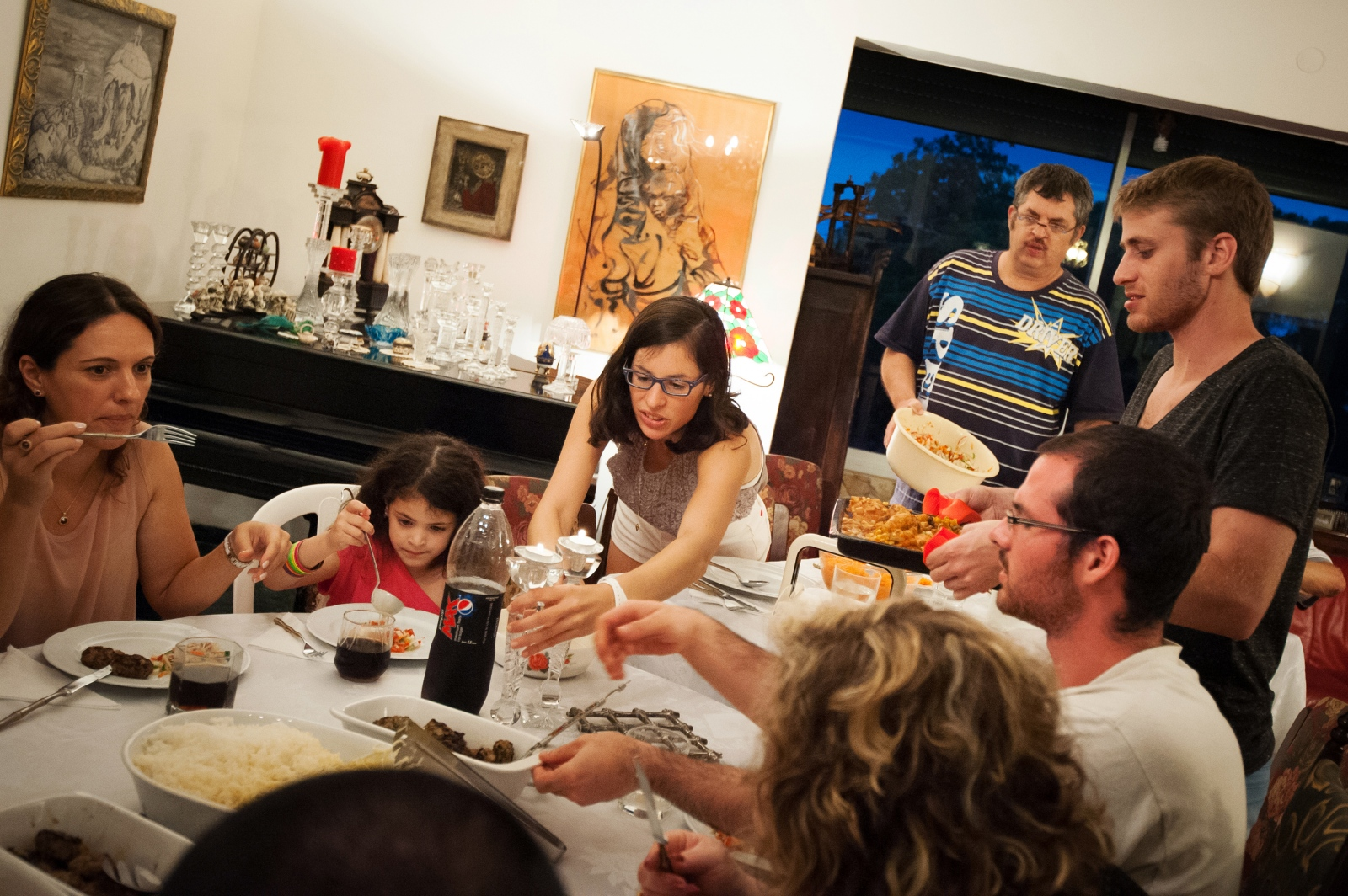 "Every Friday, Sapir visits her paternal grandmother's home for a big Sabbath dinner. ""I think that the family is your roots and it's something that you can't deny,"" said Sapir. ""You can choose which political wing you want to be or your friends, but the family is your basic identity and no one can ignore it."""