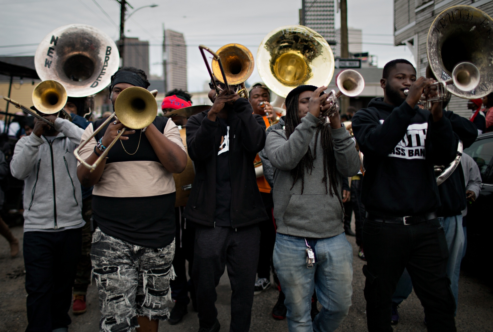 The brass band is the heart of the Second Line Parade.