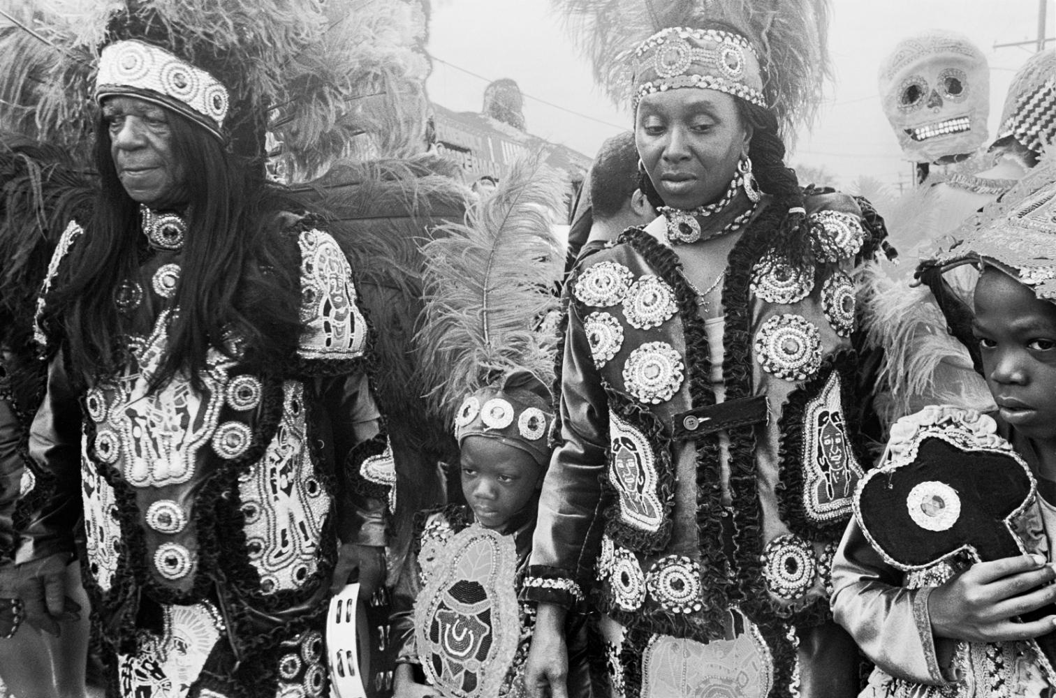 Mardi Gras Indians, New Orleans, LA, 15 March...