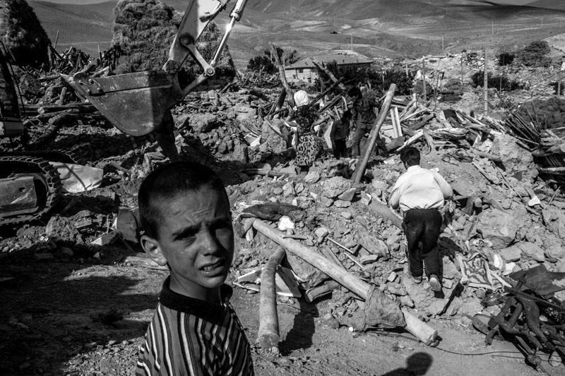 On August 11, 2012, a 6.4-Richter earthquake hit East Azarbaijan towns in Northwestern Iran, killing 306 people and wounding over 5,000 others. 410 villages were damaged and 65 others were fully destroyed. The village of Bajeh baj in Varzaqan region was completely smashed by the quake and most of the victims were from this village.