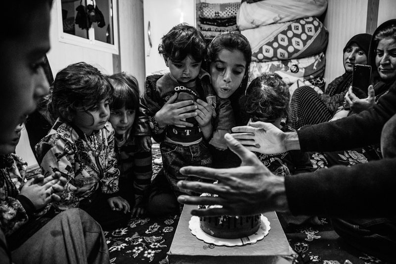 People have sent a lot of aid to the quake-hit people and children after the 7.3-Richter earthquake in Kermanshah. A group of young people held birthday party for the one-year-old child two weeks after the quake.