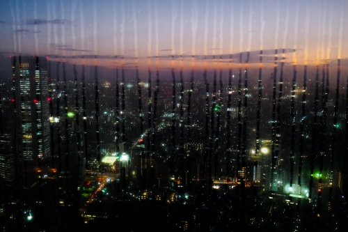 Japan, Tokyo, 2017. A view of Tokyo downtown from the government tower.