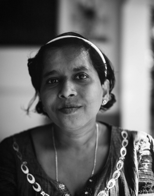 Monika,avolunteer at one of Nest's community centre's. The photograph was taken on the veranda of the centre in Udadumbara, a small town situated high up in The Knuckles Range in the Central Province.