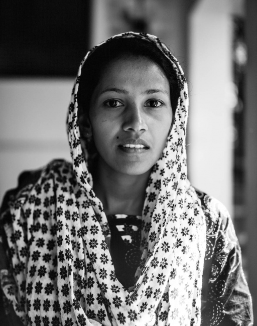 Banu Anwara. The playgroup superviser at a community centre. The photograph was taken on the veranda of the centre in Udadumbara, a small town situated high up in The Knuckles Range in the Central Province.