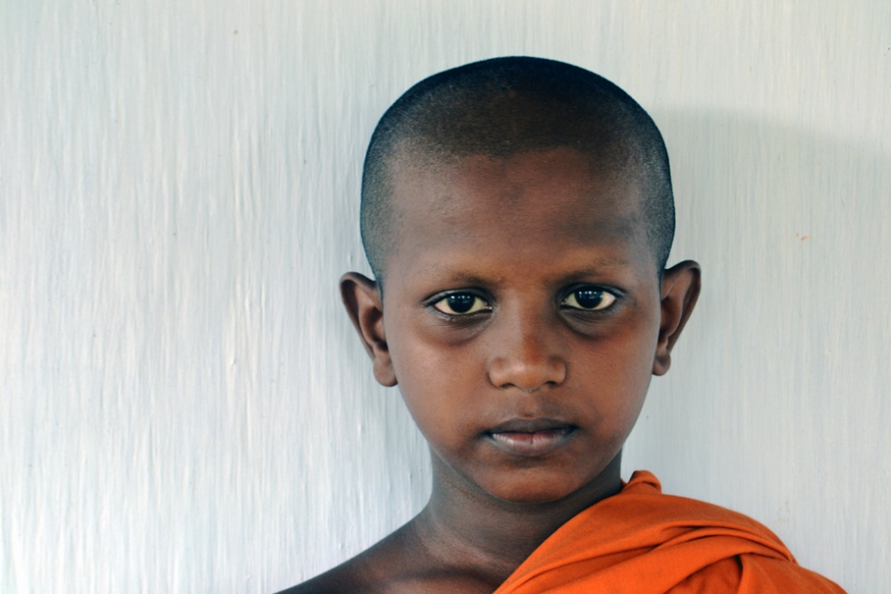 Young monk at Mawanwella