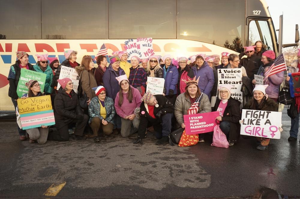Photography image - Back from the Women's march at Seneca Falls, NY, 20 January 18