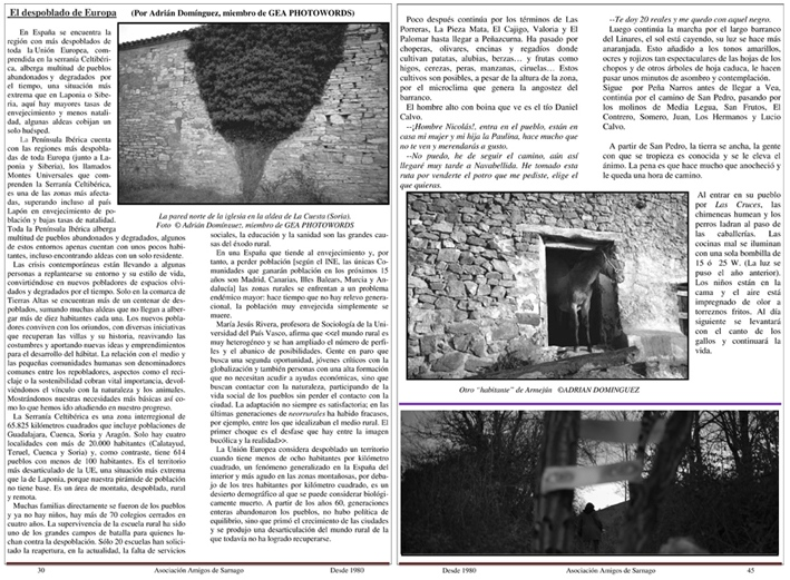 Sarnago Magazine (Spain) 3 pages
