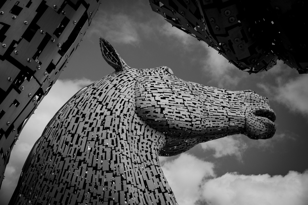Photography image - Loading kelpies_BW.jpg