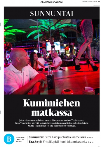 Client:Helsingin Sanomat - Finland  Published: January 2018