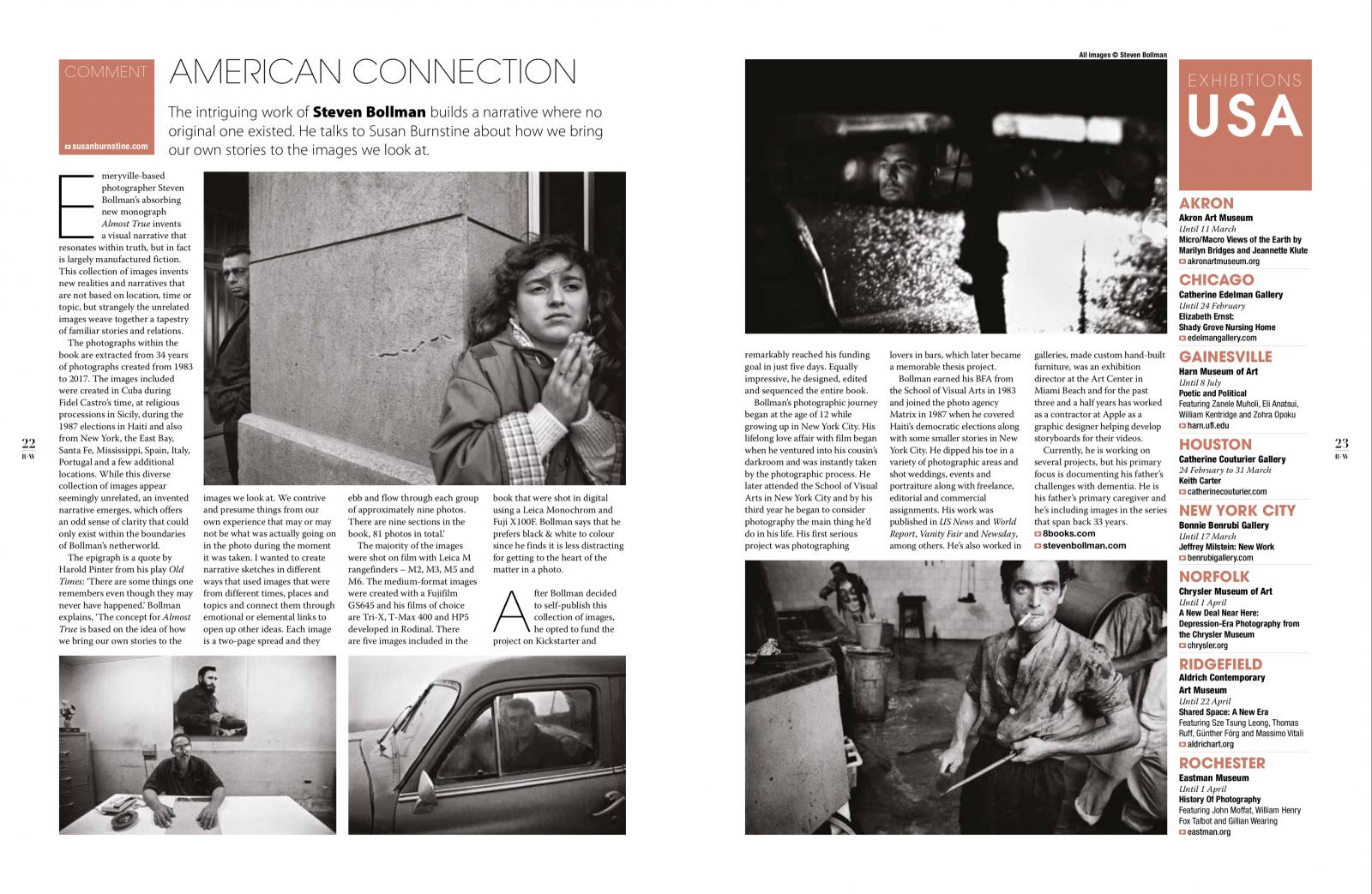 Courtesy of Black + White Photography Magazine (UK) March issue #213