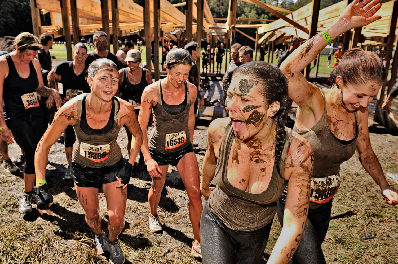 Tough Mud girls team