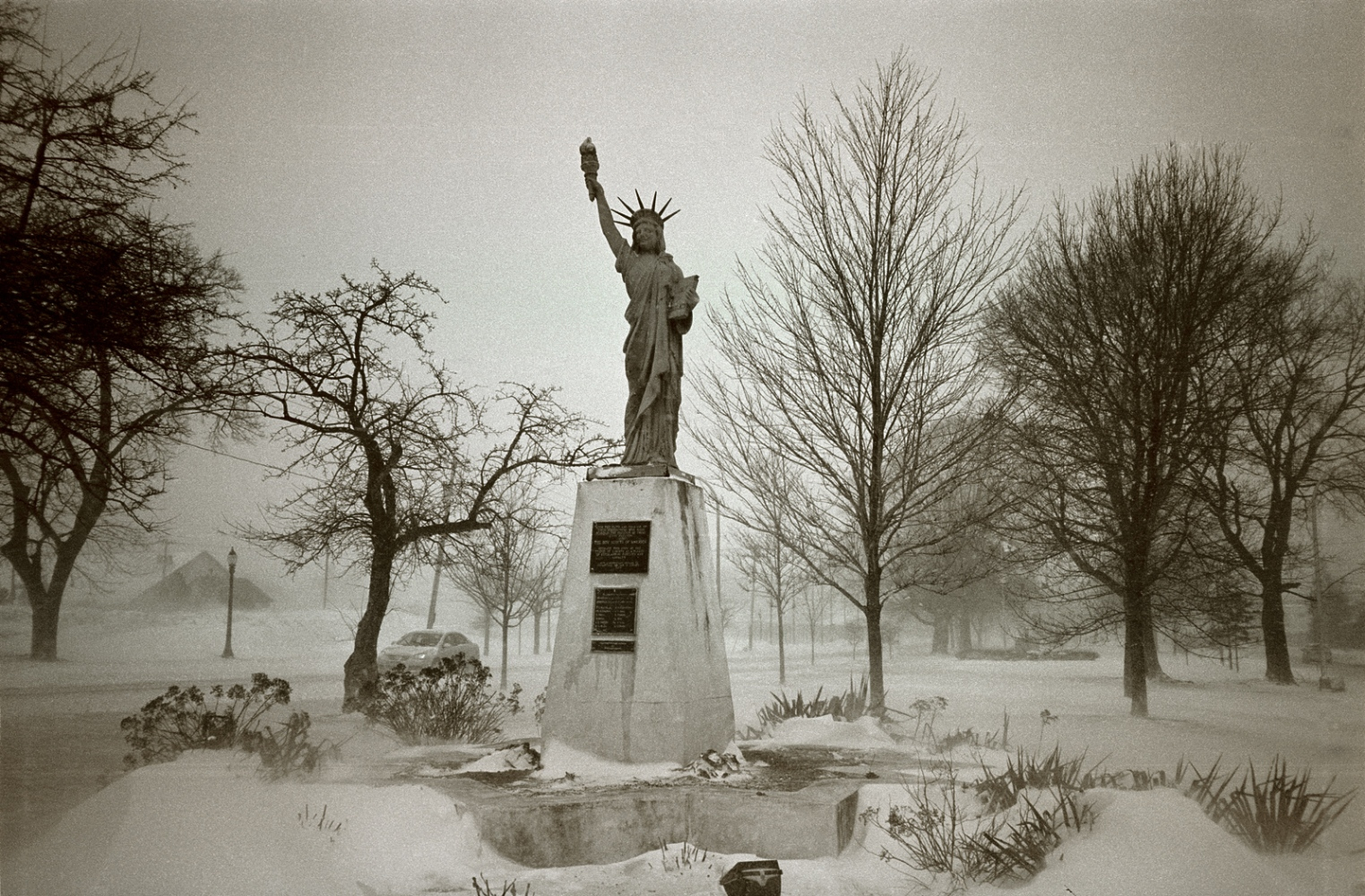 Statue of Liberty on Memorial Parkway, Utica,...