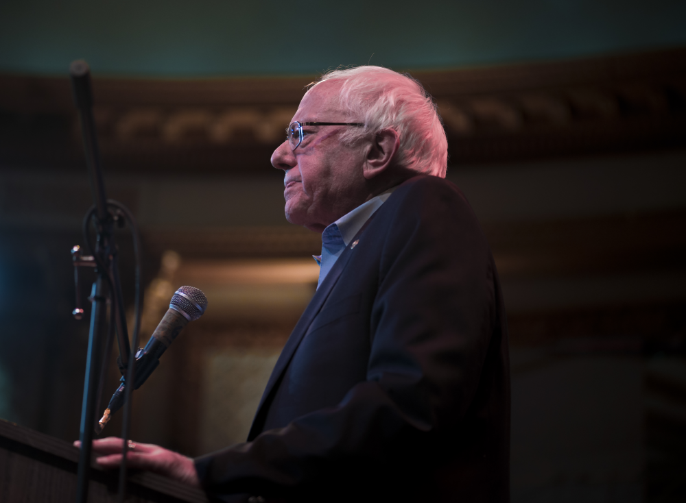 Photography image - Bernie Sanders endorsing Chuy Garcia for Congress at the historic Apollo's 2000 theater 2/22/2018