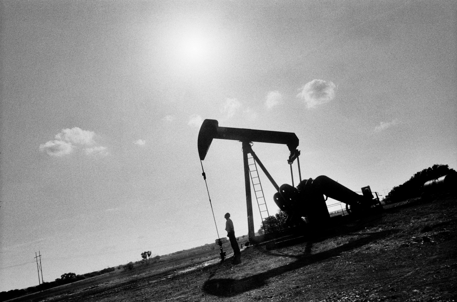 His father an oil man, Oklahoma oil rig dreaming.