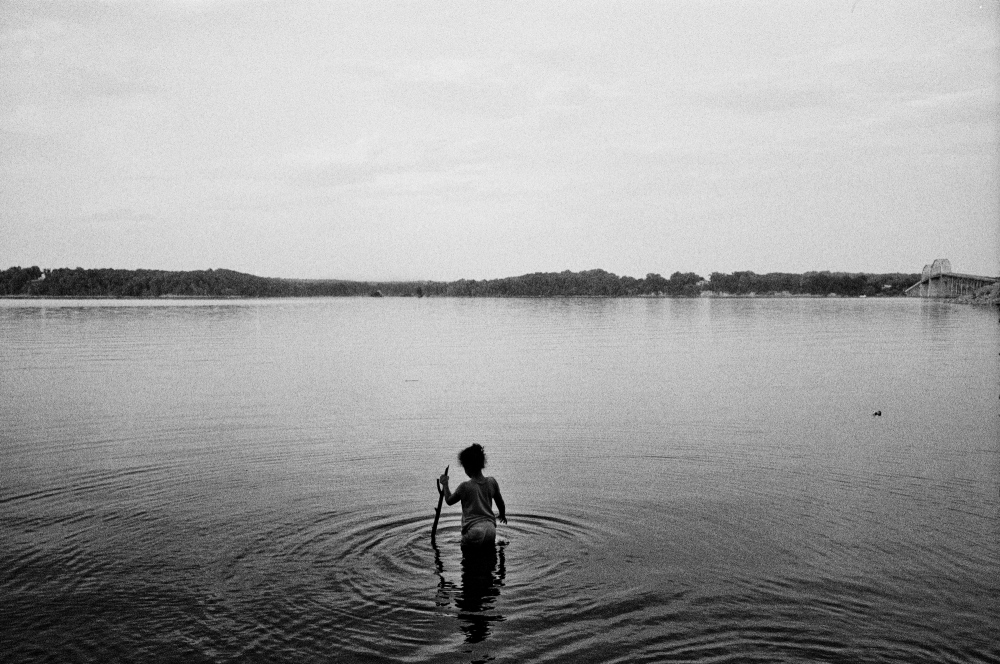 Tasting the waters of the great Tennessee River