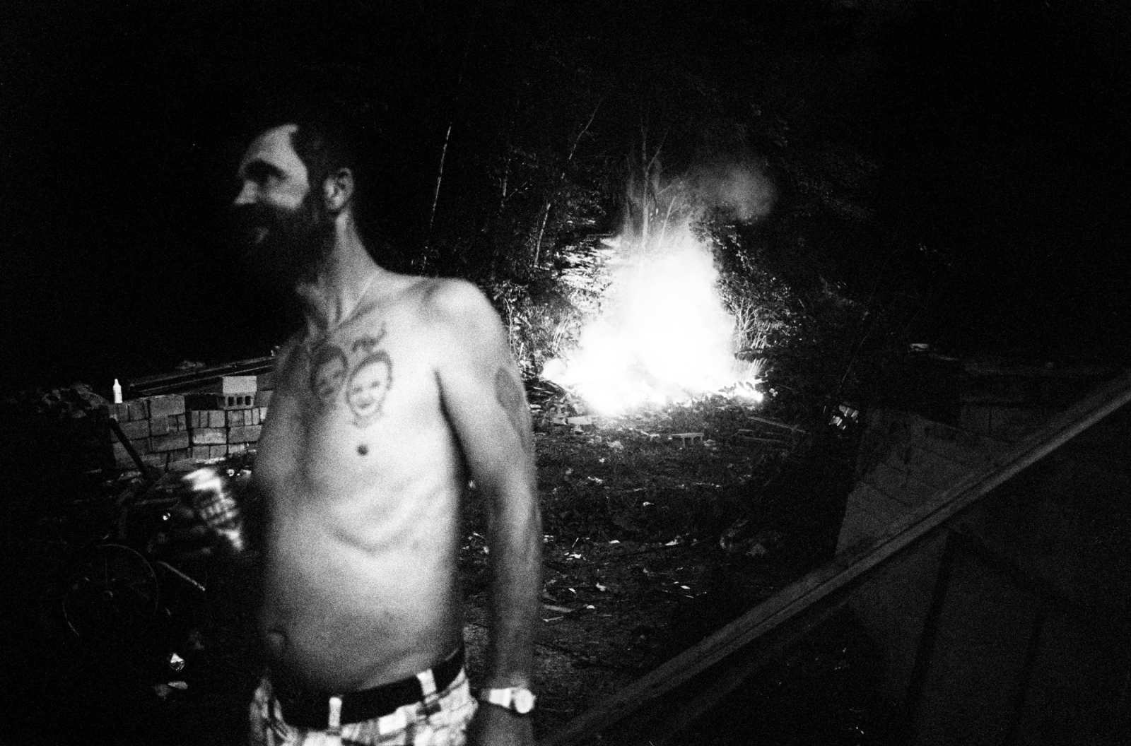 Ink to remember, fire and water to forget, West Virginia coal country.