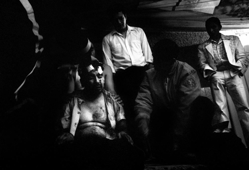 A patient, beaten senseless in Nezahualcoyotl, a notorious barrio on the outskirts of Mexico City which has become a front in the drug war.