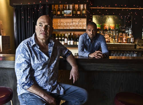 The Deuce co-creators David Simon and George Pelecanos for T he Observer Sunday Magazine  cover.