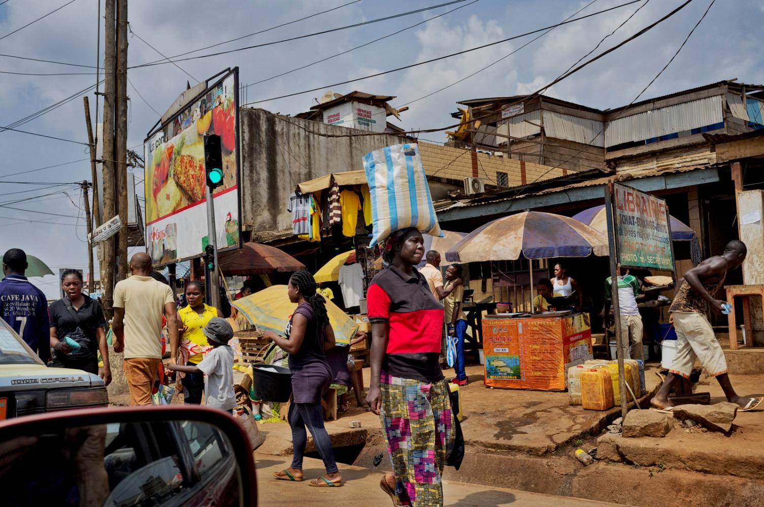 Yaounde street, Cameroon